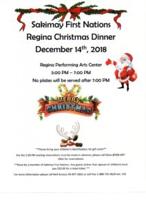 Regina Off-Reserve Christmas Dinner @ Regina Performing Arts Center